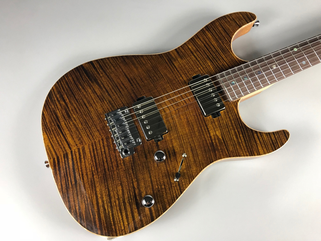 T's Guitars DST-DX22 Tiger eye - T's Guitars TGE(タイガーアイ)