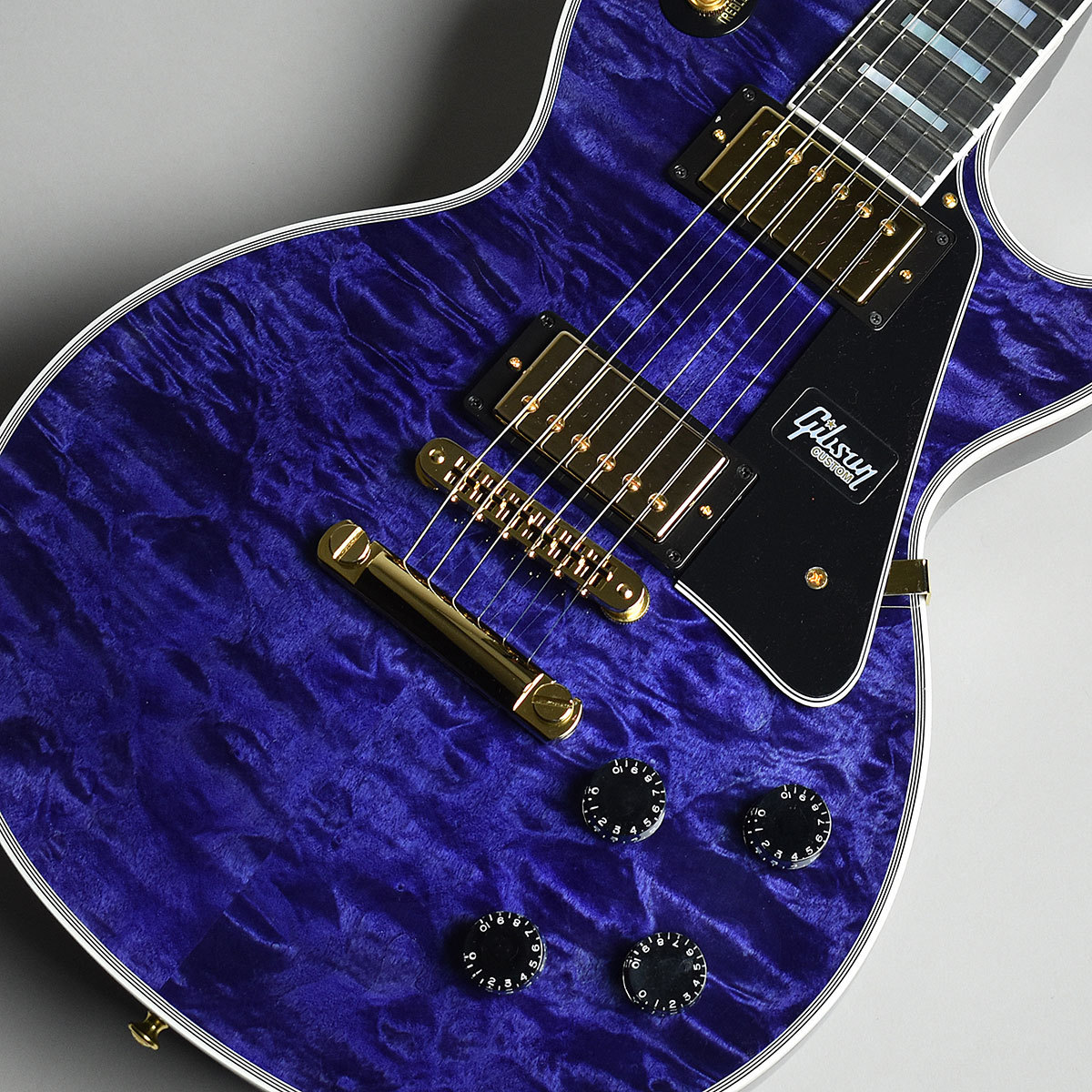Gibson                   Les Paul Custom 3A Quilt Top Trans Bllue TBL