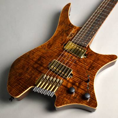 Strandberg Boden J6 Special Spalted Maple Indian Rosewood FB Custom Hardware Tiger Eye